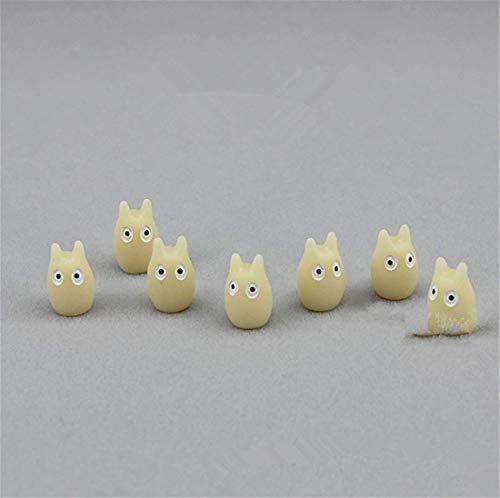 Molinter Mini Gartendeko Totoro Puppe Micro Landschaft Ornament aus Harz für Puppenhaus Puppenhausmöbel Gartenmöbel Deko Garten 10 Stücke/Set