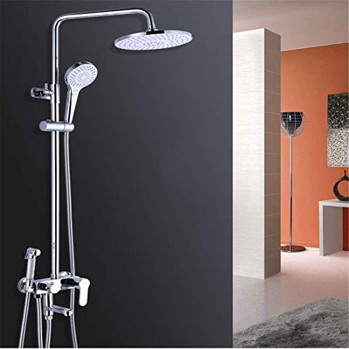 Z-LIANG Conjunto de grifos de Ducha de Cuatro velocidades de Cobre Ducha de baño Baño de baño Artefacto Montado en la Pared Burbuja, Lluvia, Spray (Color: -, Tamaño: - -) Ducha de Mano