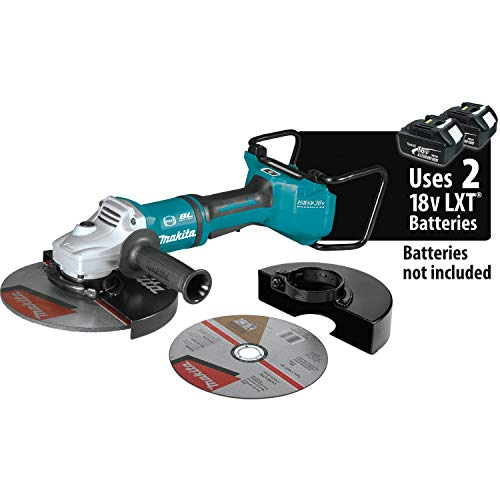 """Makita XAG23ZU1 18V X2 LXT Lithium-Ion (36V) Brushless Cordless 9"""" Paddle Switch Cut-Off/Angle Grinder, with Electric Brake and AWS, Tool Only"""