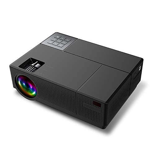YPJKHM Proyector de Video 1080P HD LED proyector casero 6500 lúmenes Home Entertainment Game KTV 3D Projector