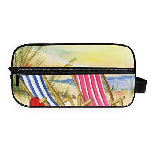 Lupinz Trousse de toilette de voyage avec chaises de plage
