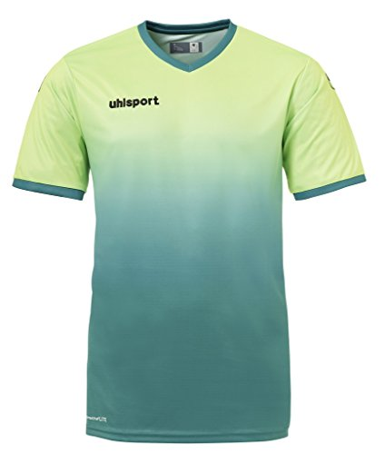 uhlsport Bekleidung Teamsport Division Kurzarm Trikot Herren, grün Flash/Lagune, 2XL