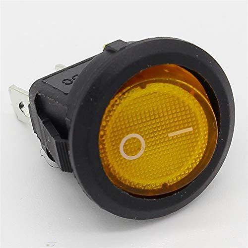 Interruptor de la luz del Coche 8pcs 220V Ronda de balancín Dot Barco LED Activa y Controles/Off Superior de Las Ventas eléctricas para Coche camión Barco Autocaravana