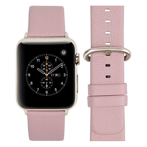 Fullmosa Cinturino per Apple Watch 38 mm/40 mm, Cinturini Pelle Compatibile con Apple Watch Serie SE 6 5 4 3 2 1, Sport, Nike+, Hermès, Edition, Rosa Tenue + Fibbia in Oro Rosa
