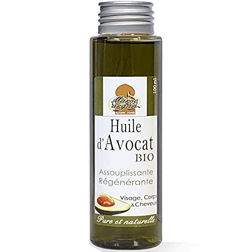 Maroc Argan Huile d'Avocat Bio/Naturelle, Peau/Cheveux, 100 ml