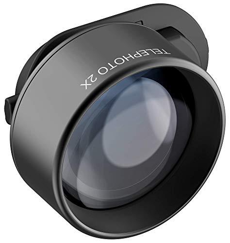 olloclip Telephoto Essential - Kameralinse für iPhone X, XR, XS/Max, iPad und MacBook, Connect X System, Objektiv mit 2X Optischem Zoom, Teleobjektiv, Linsenaufsatz, HD-Kameraobjektiv für Smartphones