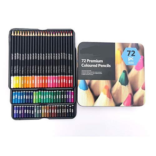 Lapices Colores Yuan Ou 72 colores, juego de lápices de colores profesionales, caja de hierro, lápices de dibujo de colores, lápices De Colores, suministros para artistas escolares, 1