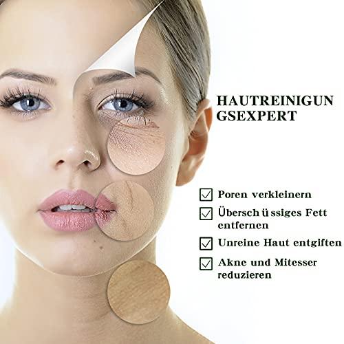 Grüner Mask Stick Deep Cleansing Gesichtsmaske, Pore Cleaner Mitesserentferner Mask, Entfernen Sie effektiv Akne entfernt Mitesser verkleinert die Poren und strafft die Haut Reinigen Sie die Haut 40g