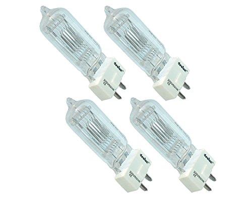 4er Set deelux Halogenleuchtmittel A1-230 V / 500 W/GY-9,5-400 Std