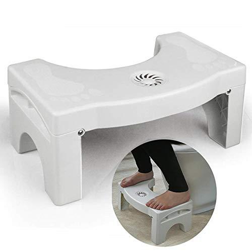 7' Folding Squatting Toilet Stool Plastic Non-Slip Foldable Bathroom Stools Toilet Step Stool Kids Comfortable Squat Aid Stool with Aromatherapy Clean Toilet Air