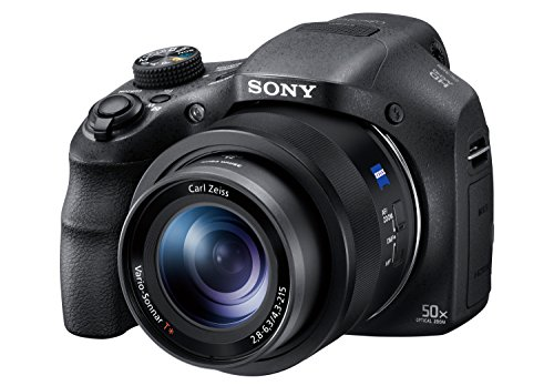 Sony Digitalkamera DSC-HX350 Bridge-Kamera mit 50-fach optischem Zoom (Exmor R Sensor, Carl Zeiss Vario-Sonnar Weitwinkelobjektiv 24-1200 mm, Full HD Video, 7,5...