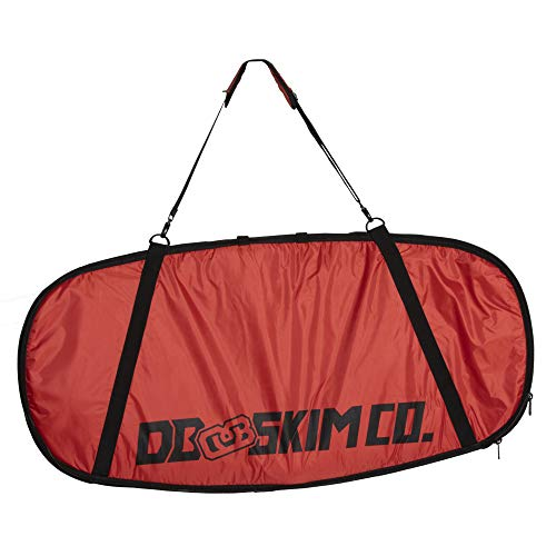 """DB Skimboards Day Trip Skimboard Bag - Red, 46""""x23"""", Skimboard Carrying Bag with Comfortable Shoulder Strap Durable Carrying Handle Internal Tie-Down Straps & Industrial Strength Zipper"""