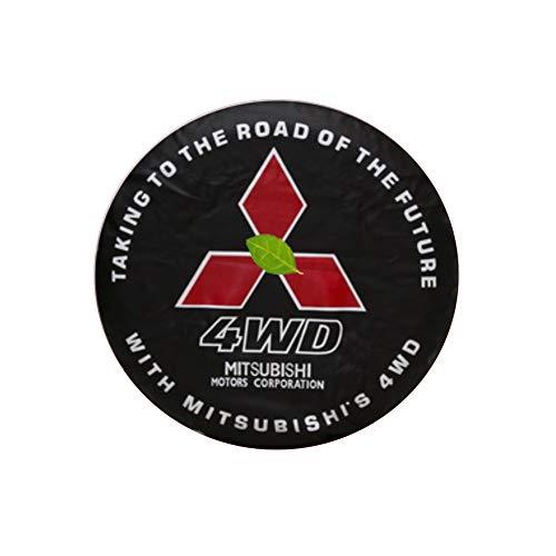 Cubierta para Rueda de Repuesto de Adecuado para Mitsubishi jeep Super select 4 ruedas motrices Montero LTD Raider Pajero 14-17''. Funda Protectora para Rueda de Repuesto de PVC Resistente,No 3,16''