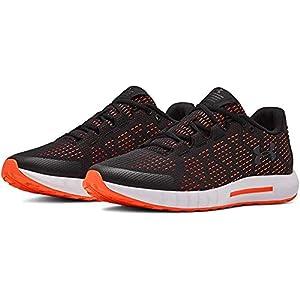 UNDER ARMOUR womens Micro G Pursuit SE Running Shoe, Black (003)/Peach Plasma, 8.5