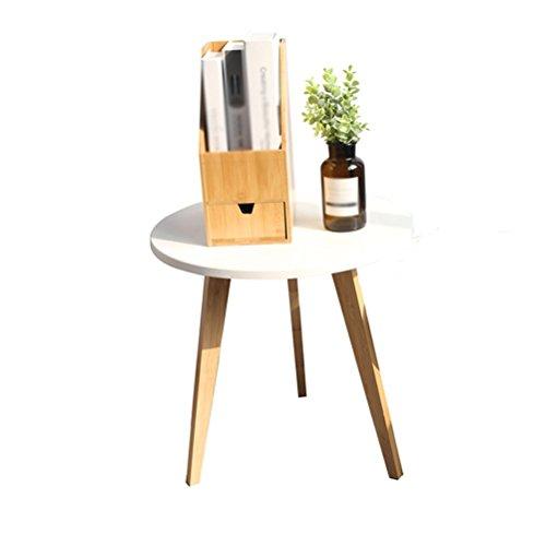 Shelf LUYIASI- Nordic Small Shop Table Basse Table de thé Simple créative Table de Salon Table Ronde latérale Combinaison de Table de lit Mobile (Taille : 50x51cm)