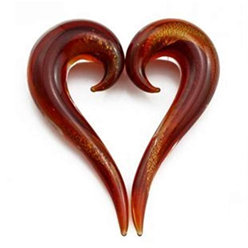 LDGR 2pcs Brillo Espiral Espiral Tapones Cónicos Piercing Guage Pendiente Expansor (Main Stone Color : 6mm, Metal Color : Gold Color)