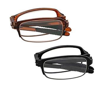 J&L Glasses 2 Pack Fashion Mini Pocket Folding Reading Presbyopic Glasses For Men Women  2pack 2.5