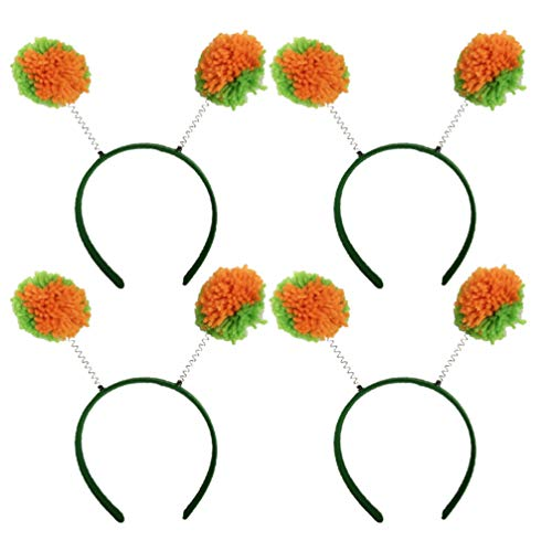 Tendycoco 4 stuks haarbanden van wol St. Patricks Day haarband haaraccessoires