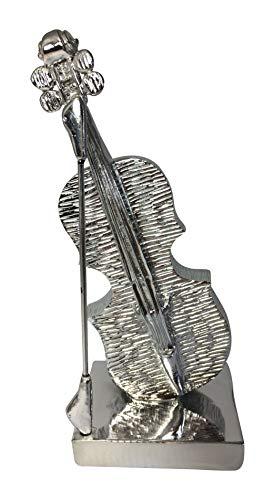 Beyond viool decoratie muziek porselein beeld voor huisdecoratie, porselein, zilveren afwerking 25 cm geweldig cadeau, viool