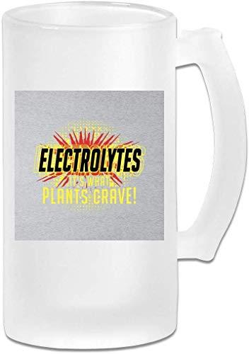 Gedruckte 16oz Milchglas Bier Stein Mug Cup - Elektrolyte seine, was Pflanzen Idiocracy Crave - Graphic Mug