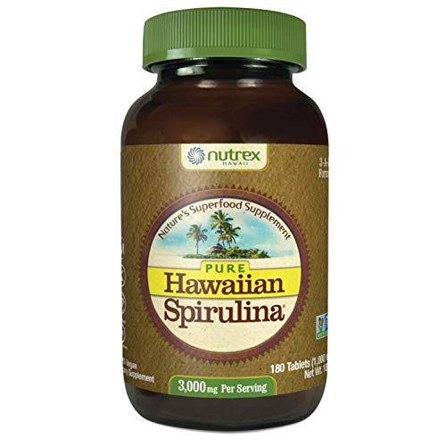 Nutrex Hawaii Hawaiian Espirulina Pacifica 1000 Mgs, Frasco de 180 tabletas
