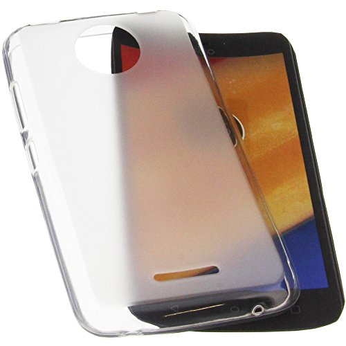 foto-kontor Tasche für Lenovo Moto C Plus Gummi TPU Schutz Handytasche transparent weiß