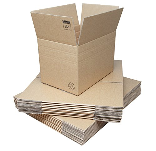 Double Wall Cardboard Boxes - Multi-Depth - 457x305x305mm (18x12x12ins). 20 / Pack. Strong Flatpacked Medium Cartons for Moving/Shipping/Storage. Crush-Resistant Brown Corrugated Board with Kraft Finish & Lid Flaps. Easy to Fold & Assemble. Adjustable Multi Depth Box, with 2 Pre-scored Creases, can be Folded to Height Needed. Recyclable. Fast Delivery