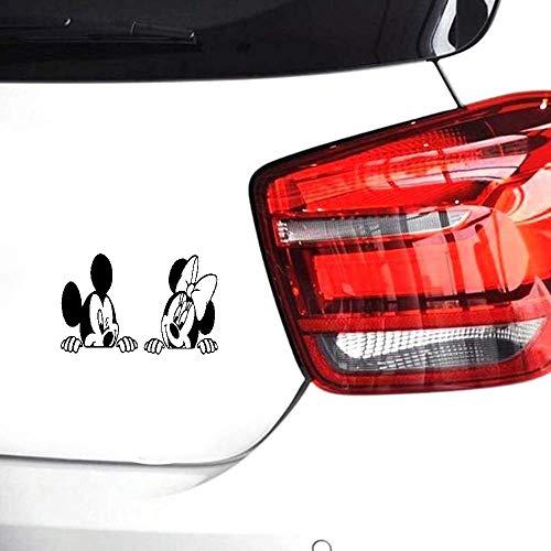 Mickey Maus Minie Maus Auto Aufkleber Cartoon Mickey Minnie Maus Aufkleber Kinderzimmer Kinder Anime Maus Aufkleber Sofa-Größe 20cm