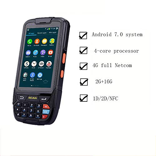 WYP Barcode Scanner, Portable Date De Poche Bluetooth GPS Collecto Support Balayage Codes À Barres 1D / 2D, La Lecture des Étiquettes RFID, Le Positionnement GPS