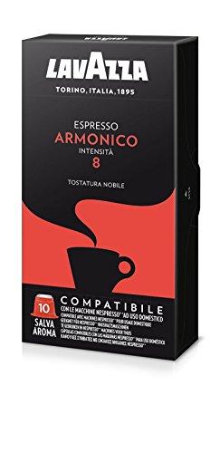 Lavazza Capsule Compatibili Nespresso Espresso Armonico, 10 Confezioni da 10 Capsule [100 Capsule]