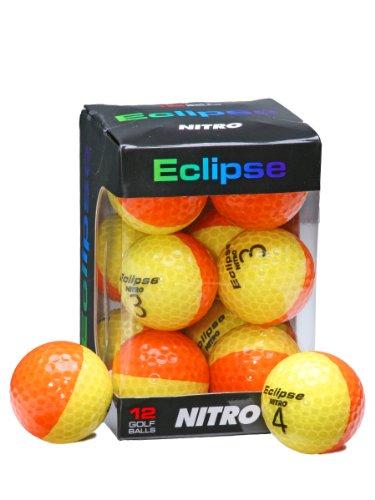 Nitro Golfbälle Eclipse, 12 Stück, Yell/Orange, 12 Count