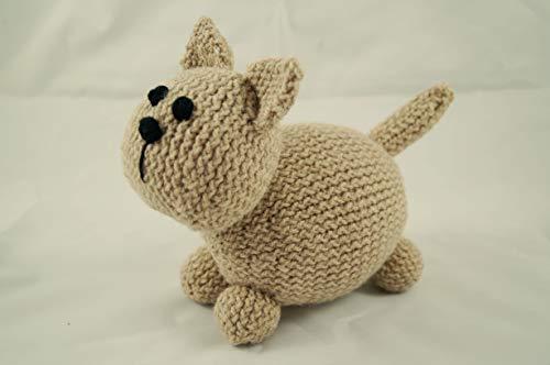 chat chaton peluche tricoté à la main crochet photo prop nouveau bébé cadeau animal en peluche