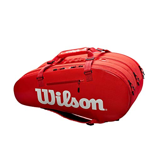 Wilson Super Tour 3 Comp Red - Borsa Racchette Tennis - WRZ840815