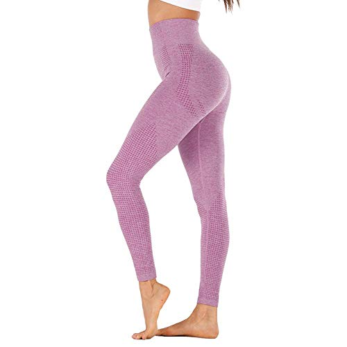 Leggings Deportivos Pantalones Leggings Sin Costuras De Cintura Alta Leggins Push Up Deporte Mujer Fitness Running Yoga Pantalones Energy Leggings Sin Costuras Gym Girl Leggin