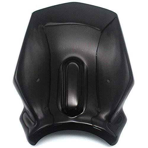 Parabrisas de motocicleta Parabrisas De Motocicleta Deportes Parabrisas Visera En Forma Fit For CB125R CB250R CB300R 2018 2019 2020 Motocicleta Parabrisas Parabrisas de motocicleta ( Color : Black )