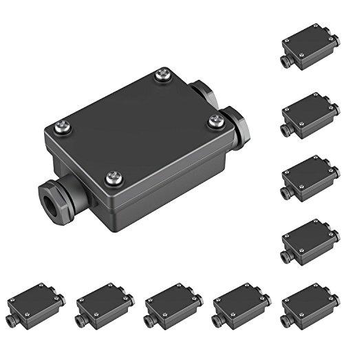 Parlat Cable-Conector Doble para el Exterior, Muffe para 6-8mm Cable IP68, 10 UDS