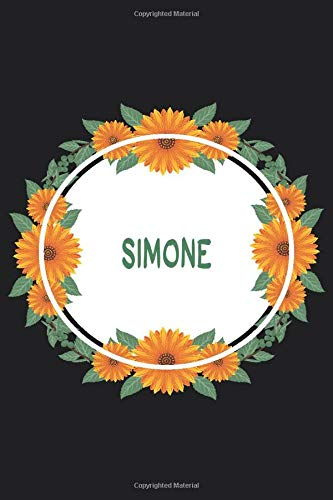 Simone: Personalized Notebook | Simone's Personal Writing Journal | Blank lined notebook | Note Taking for Simone
