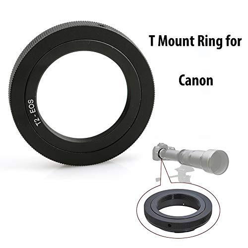 Lightdow T/T2 Mount Lens Adapter Ring for Canon EOS Rebel T3 T3i T4i T5 T5i T6 T6i T6s T7 T7i SL1 SL2 6D 7D 7D 60D 70D 77D 80D 5D II/III/IV DSLR Camera
