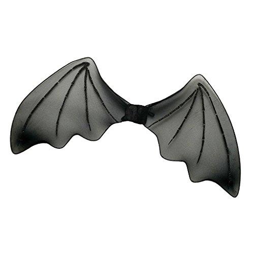 MagiDeal Vampir Fledermausflügel Kinder Fledermaus Geist Flügel Halloween Vampirflügel Bat Schädel Wings Kostüm Accessoire Karnevalskostüme Tier - Schwarz, 30 x 66cm