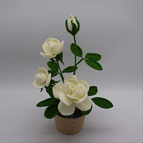 Artigianato Sculpin Fiore Uncinetto Finito all'Uncinetto Le Piante da Vaso di Fiori di Scorpione di Simulazione Fiore di Lana