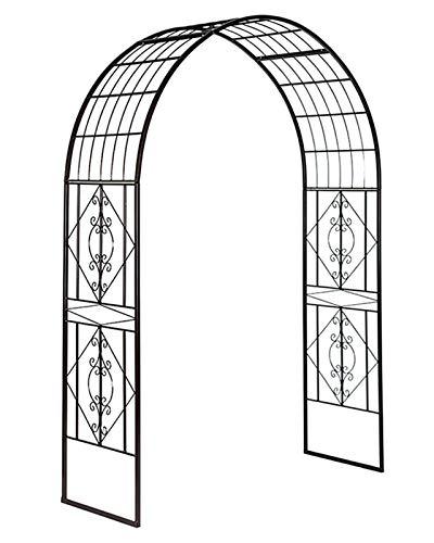 F-XW Arco de metal para jardín con enrejado duradero para decoración de pérgola, plantas trepadoras y fiestas, 230 cm x 185 cm x 60 cm