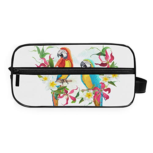 DEZIRO Trousse de toilette de voyage étanche Motif Parrot Tropical Paradise