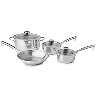 Revere 7-Piece Copper Core Confidence Stainless Steel Cookware Set