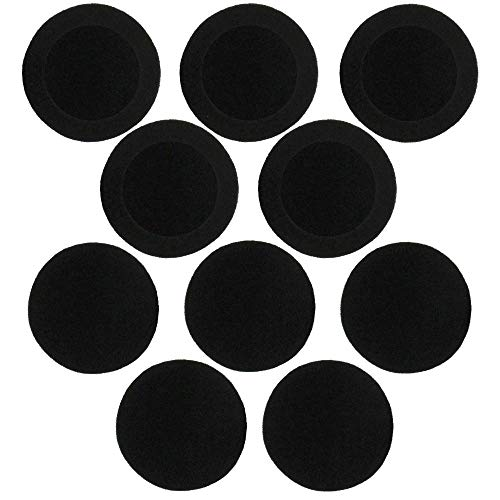 On-Ear Cushion Replacement Ear Pads 50mm / 2' Foam Earphone Cushions EarPad Headphone Headset Covers (5 Pairs) Pack of 10