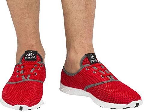 Cressi 1946 Aqua Shoes Zapatos Deportivo para Uso Acuático, Unisex Adulto, Rojo/Gris, 43