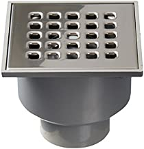 Jimten 24048 - Sumidero sifónico salida vertical (105 x 105, 50 / 40) para patio