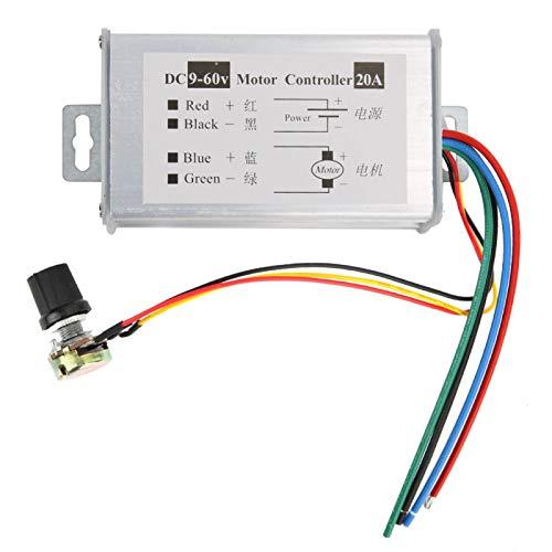 Controlador de velocidad del motor DC9-60V 1200W 0-20A 0-100% Modo de control de velocidad del potenciómetro lineal
