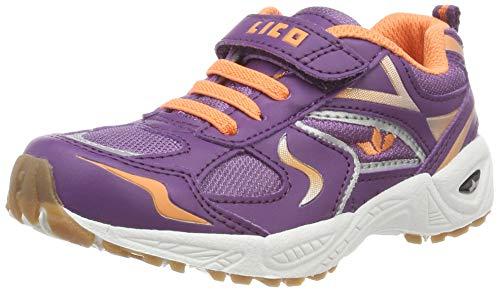 Lico Mädchen BOB VS Multisport Indoor Schuhe, Blau (Lila/Lachs Lila/Lachs), 27 EU