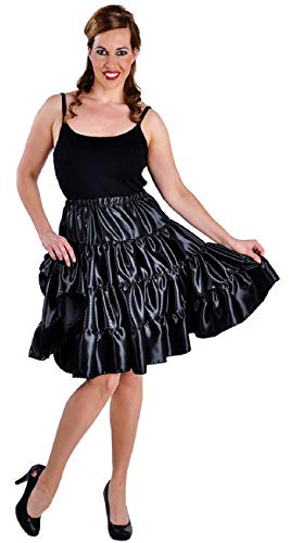 narrenkiste M212111-2-S - Enagua de satn para mujer, talla S, color negro