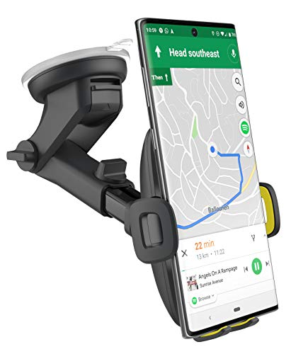 Encased XL Car Mount for Samsung Note Phones - Large Phone Holder with Fully Adjustable Case Friendly Design (Windshield + Dashboard Compatible) (Note 20/20 Ultra/Samsung Note10/9 All Versions)